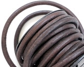 6mm Leather cord in Dark Brown . 3 feet . High quality using lead free dyes