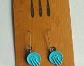 Blue Plate Special Earrings-Kiss the Cook/Top Chef/Hot Dish/Free Ship