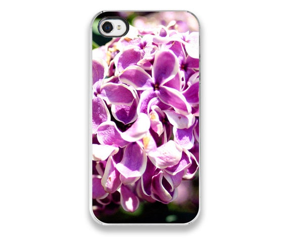 IN STOCK SALE - iPhone 4 Case - Lilacs Photograph flower iPhone Cover, floral nature photography - custom case, soft romantic girly
