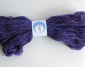 Hand Dyed Lace Yarn - Bluefaced Leicester & Silk - Purple Prism - Demi Skein