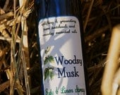 WOODSY MUSK Body and Linen Spray, pure essential oils, cedarwood, pine, fir and patchouli