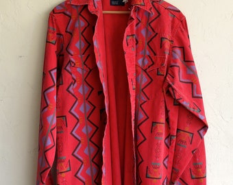 Red Wrangler Aztec Print Shirt