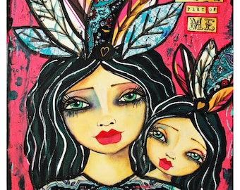 You are the best part of me mother and daughter painting by Lisa ferrante