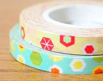 Funtape Masking Tape - Beige Diamonds - 6mm Slim