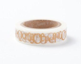 Aimez Washi Masking Tape - Typography Alphabet