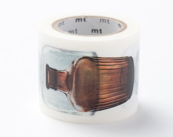 mt ex Washi Masking Tape - Vintage Bottles - Clear & Brown