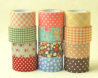 La Couture Fabric Masking Tape - Red Dots - 30mm wide
