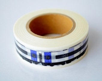 mt Washi Masking Tape - Blue & White Train - Centrair Sky - Limited Edition