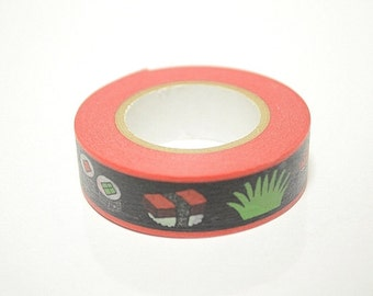 Washi Masking Tape - Sushi - Limited Edition - Tokyu Hands (15m roll)