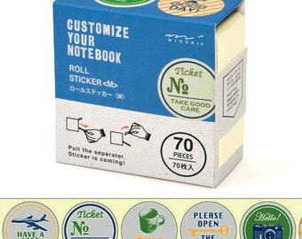 Travel Sticker Roll - Trip & Ticket - Pack of 70