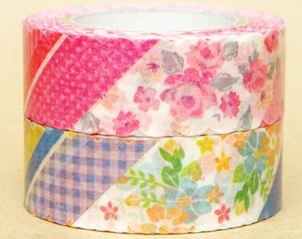 NamiNami Washi Masking Tape - Collage in Pink & Blue