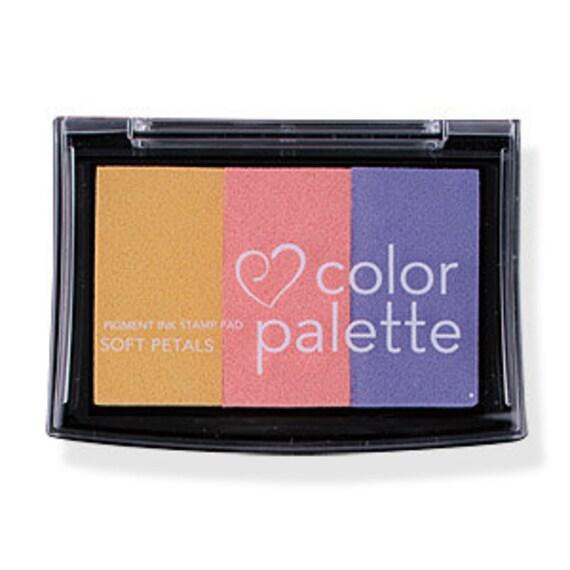 Color Palette - Multicolour Paper Ink Stamp Pad - Soft Petals