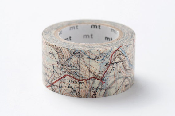 mt ex Washi Masking Tape - Map