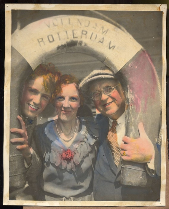 1930 Tinted Cruise Photograph Holland American Line