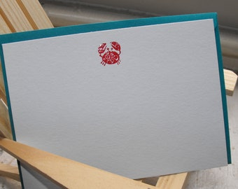 Crab noteset embossed