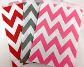 SALE- Chevron Paper Treat Bags- 5 x 7 - Birthday Treat Bags, Wedding Favors, Baby Shower Favors