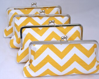Custom Bridal Party Gift in Yellow Clutch Handbag Design your own custom gift or gift set for your bridesmaids