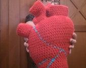 Heart Pillow Crochet, Anatomical