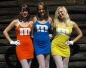 M&M Halloween Costume Chocolate Candy Mini Dress