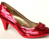 Size 9 Sequin Ruby Replica Heels