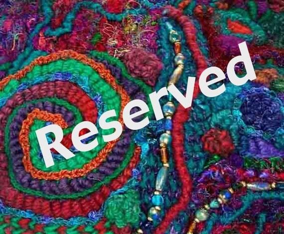 Jade Green Turquoise Crochet Flower Scarf OOAK Wearable Art