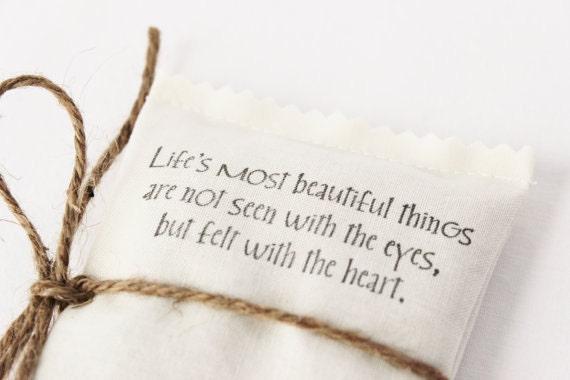Love Quote Lavender Sachet, Scented Drawer Sachet, Sweetheart Gift