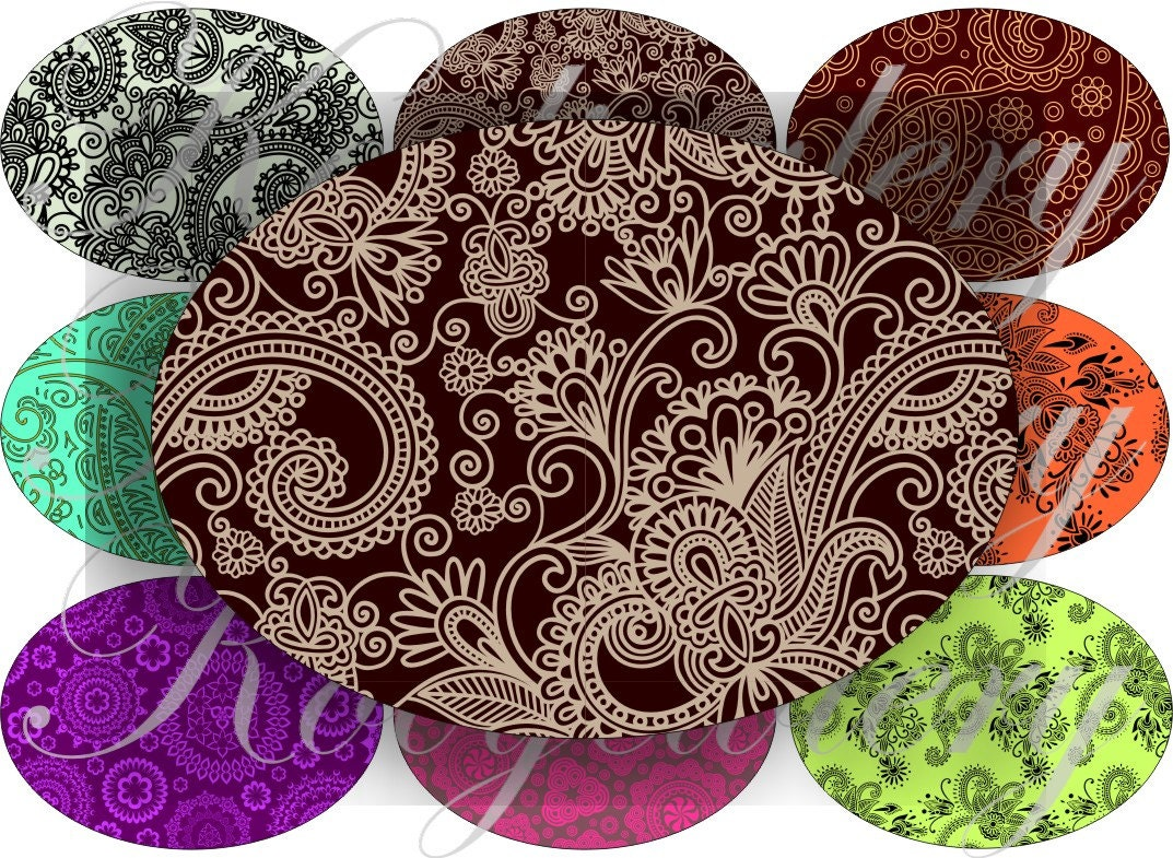 Henna Designs Images Large Oval For Belt Buckle And More