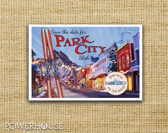 Save the Date Postcard Park City