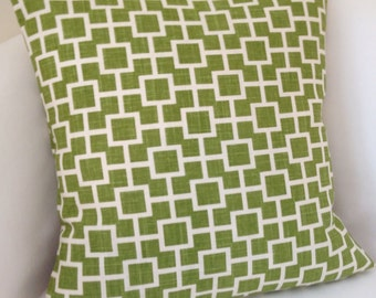 Decorative Pillow Cover Green Pillow Accent Cushion Throw Pillow Trellis
