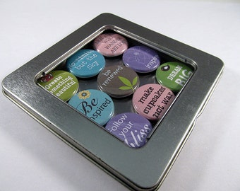 Follow Your Bliss Magnet Set / Refrigerator Magnets / Locker Magnets / Ready for Gift Giving