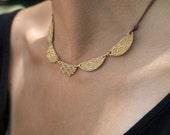 Gold Necklace Bronze Jewelry Bronze Anniversary Eighth 8th Anniversary Geometric Jewelry Gold Necklace Rugged Vegan Boho Everyday Pretty
