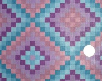 Fabric, Hoffman California, Quilting, OOP, 1 YARD, Purple, Orchid, vintage fabric, Destash
