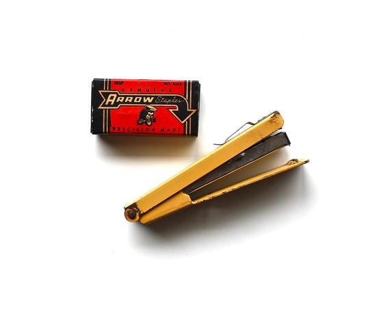 Mustard for Your Desk - Vintage Stapler  - Bostitch Mustard Yellow Stapler