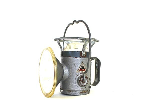 Industrial Decor - Vintage Miners Light - Vintage Miners Lantern - Vintage Delta Lantern