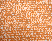 Custom Listing for Jen - Happy Drawing Organic Fabric - Orange Scribbles - Organic Designer Cotton - Cloud9 Fabrics - 1.5 yards