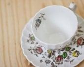 Flowery Teacup Saucer