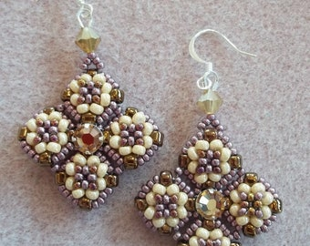 Meridian Earrings PDF Bead Weaving Tutorial (INSTANT DOWNLOAD)