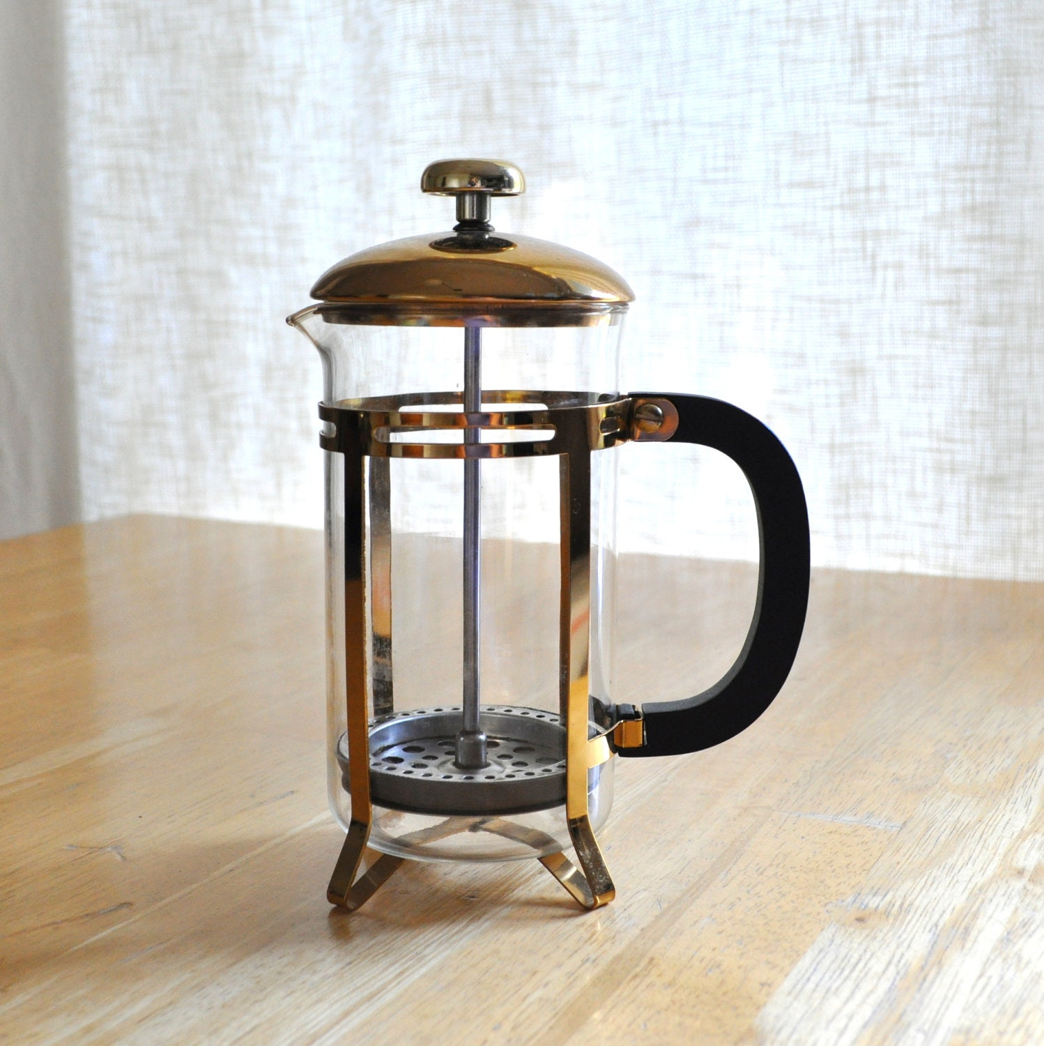 vintage french press coffee maker with original brochure. Black Bedroom Furniture Sets. Home Design Ideas