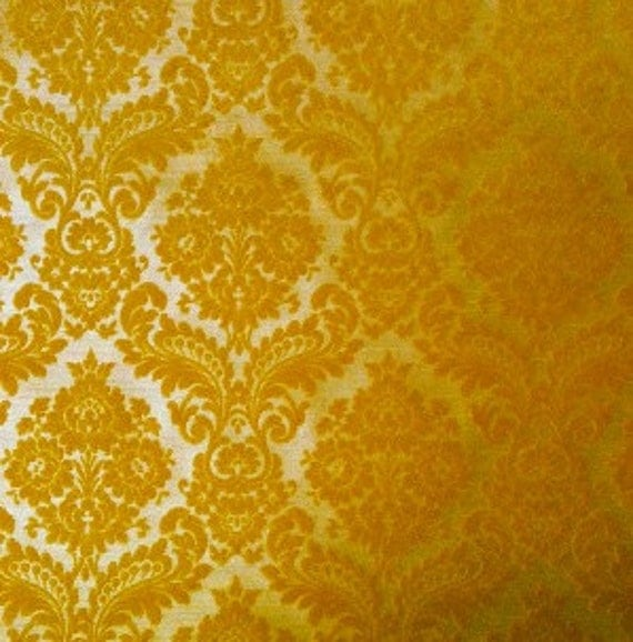 Vintage wallpaper flocked damask