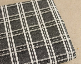 Check Gingham Collection-Retro Embroidery Zakka Checks -Japanese Flax Linen Fabric (1/2 Yard)