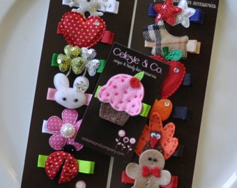 Baby Hair Bows - Baby Hair Clips - Infant Hair Clips - Infant Hair Bows - Toddler Hair Bows/Clip 12-Month Year Round - Baby Shower Gift