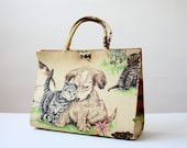 margaret smith bag - vintage dogs and cats handbag