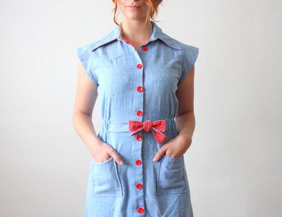 vintage 1970's mini day dress