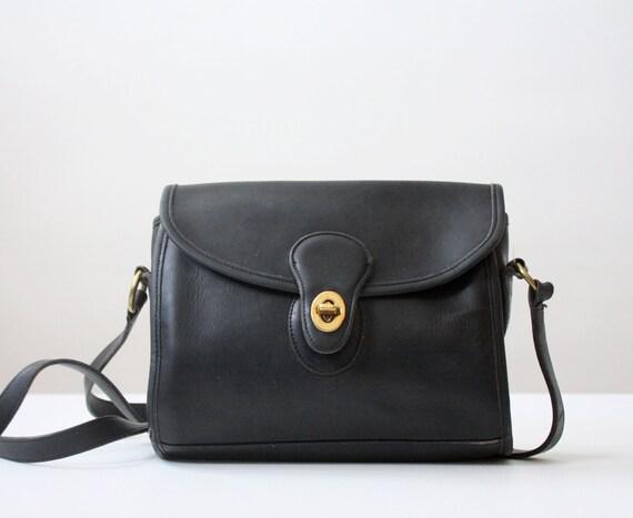 coach bag - vintage black leather coach purse