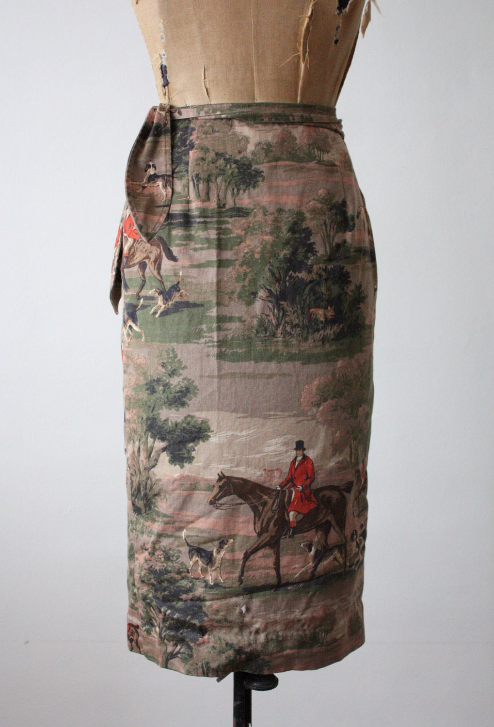 Wrap Skirt Vintage 1970 S Fox Hunt Wrap Skirt