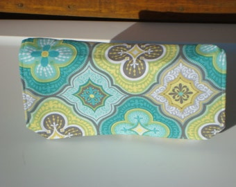 20% Off Coupon Organizer /Budget Organizer Holder  / Attaches To You Shopping Cart - Green and Yellow Floral