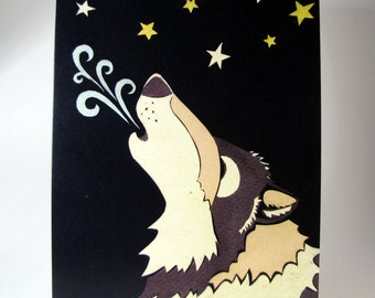 Wolf Song--Holiday Greeting Cards