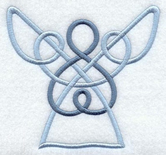 Hand Towels Meaning: Celtic Angel Embroidered Terry Kitchen Towel Bathroom Hand