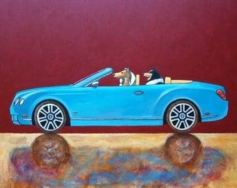 "180 Bentley Continental GT Convertible – print 21x21cm/8.5x8.5"""