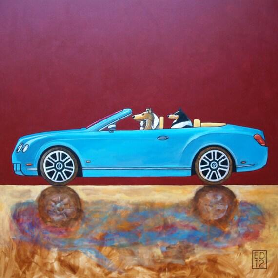 "180 Bentley Continental GT Convertible – print 14x14cm/5.5x5.5"""